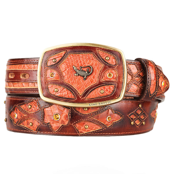 Men's Caiman Western Fashion Belts - VaqueroBoots.com - 7