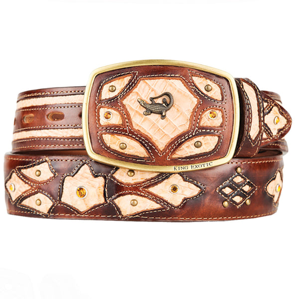 Men's Caiman Western Fashion Belts - VaqueroBoots.com - 5