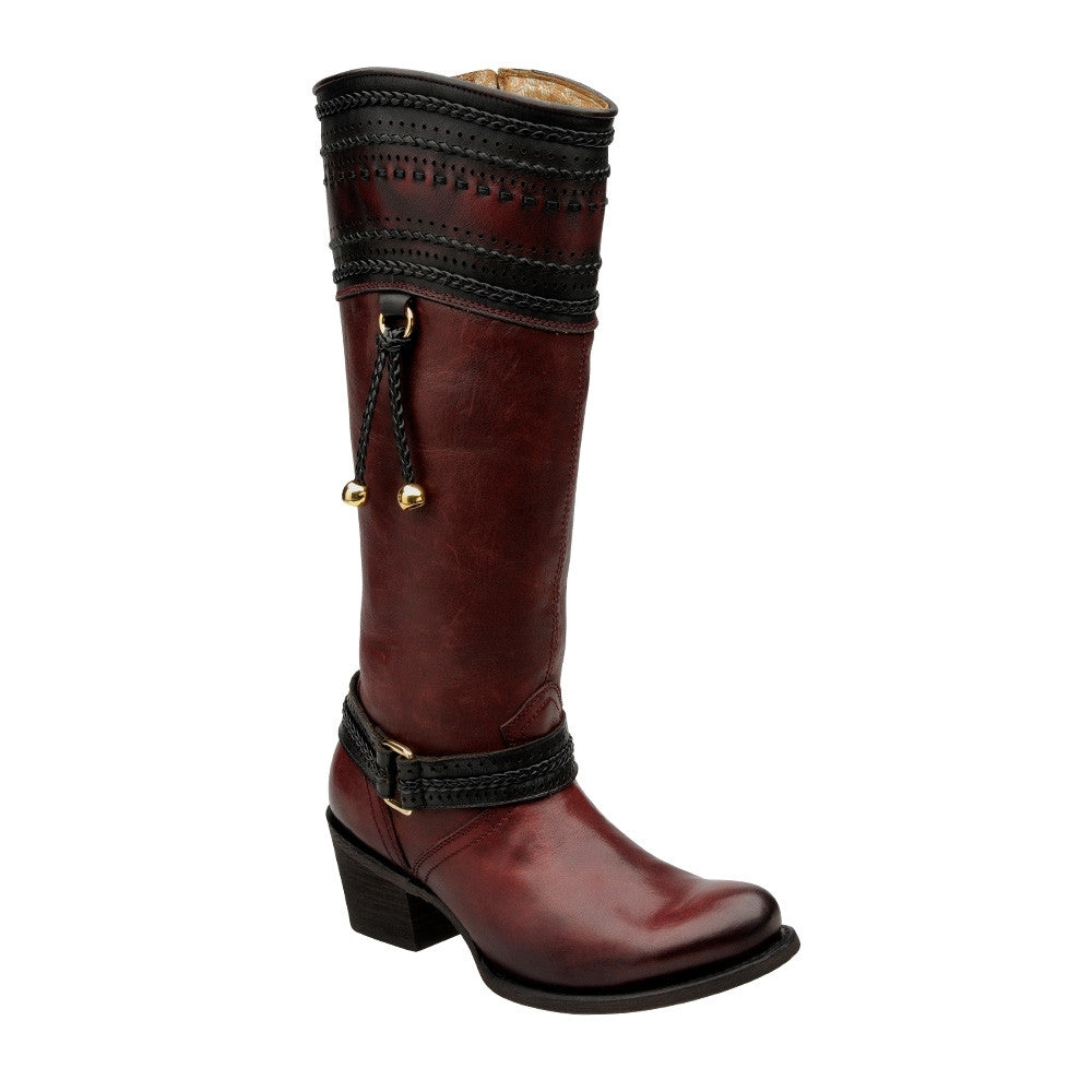 Cuadra Ladies Wine Tall Boot - VaqueroBoots.com