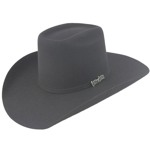 Cuernos Chuecos 6X Dark Gray Brick Crown Felt Hat