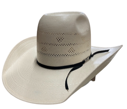 American Hat Company Diamond Vented Crown Cowboy Straw Hat
