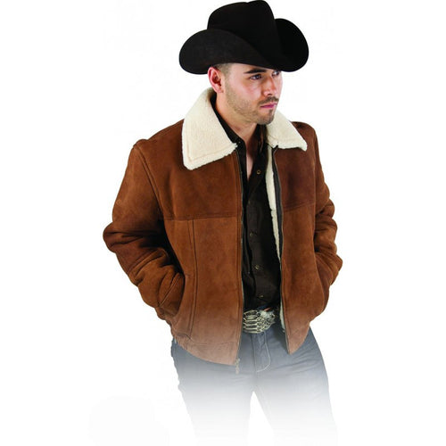 Men's Sheepskin Jacket - VaqueroBoots.com - 1