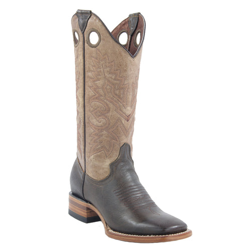White Diamonds Boots Women's Brown Wide Square Toe Boots