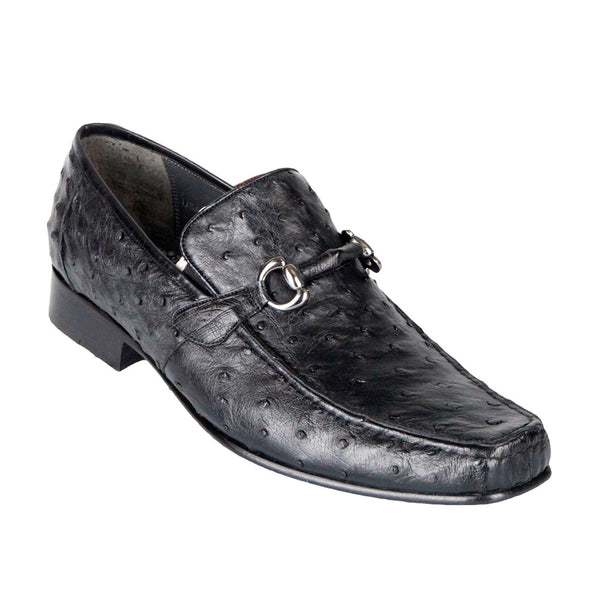 Men's Exotic Ostrich Loafers - VaqueroBoots.com - 2