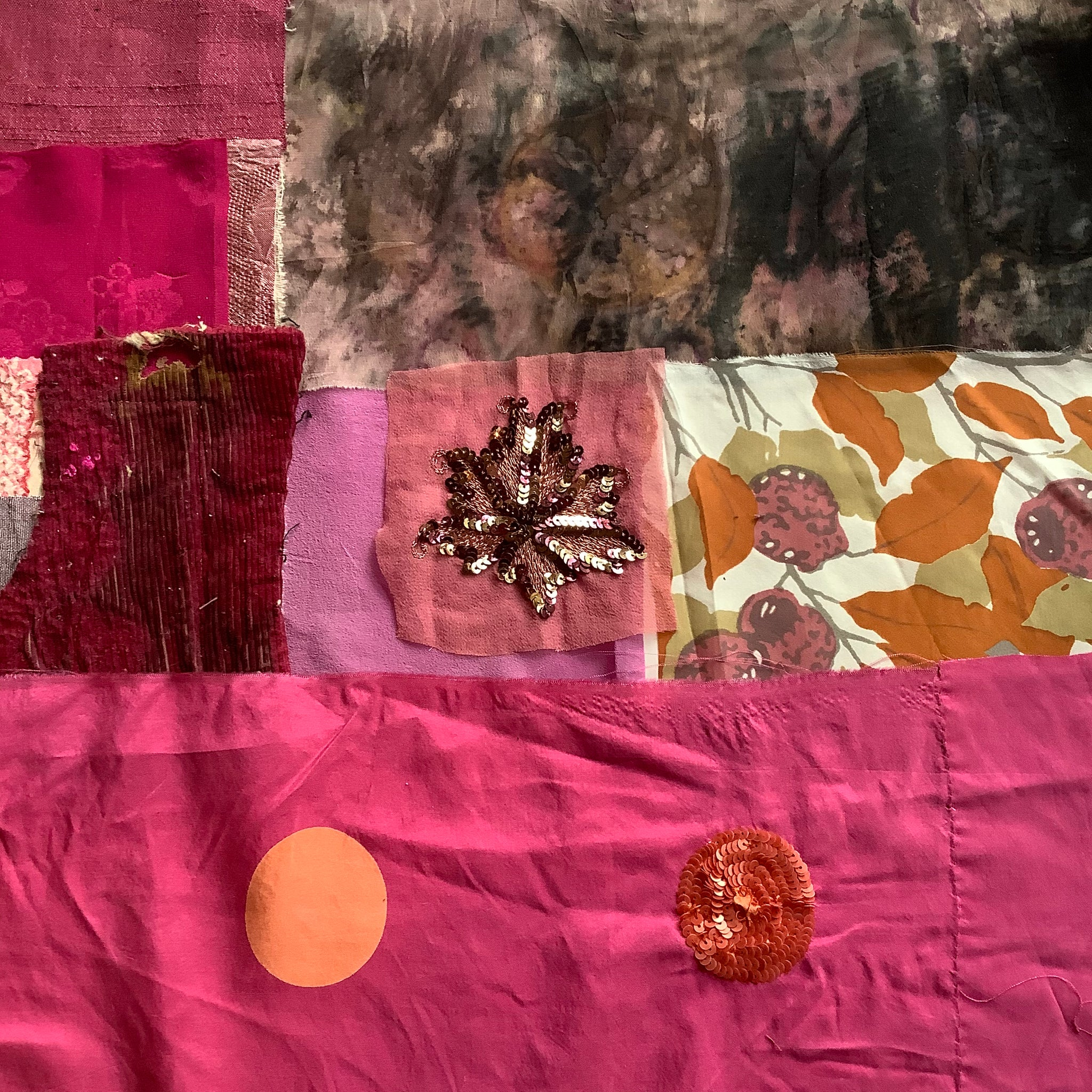 Patchwork Fabric Pink - Silks