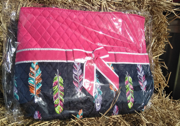 Feather Quilted 3pcs Nappy Bag