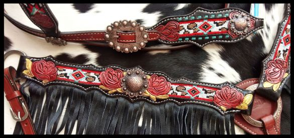Beaded cheetah southwest set.