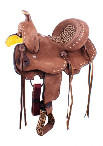 Cheetah seat 13 inch saddle