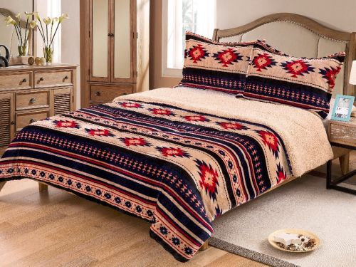 King Size 3 pc Borrego comforter set with southwest design
