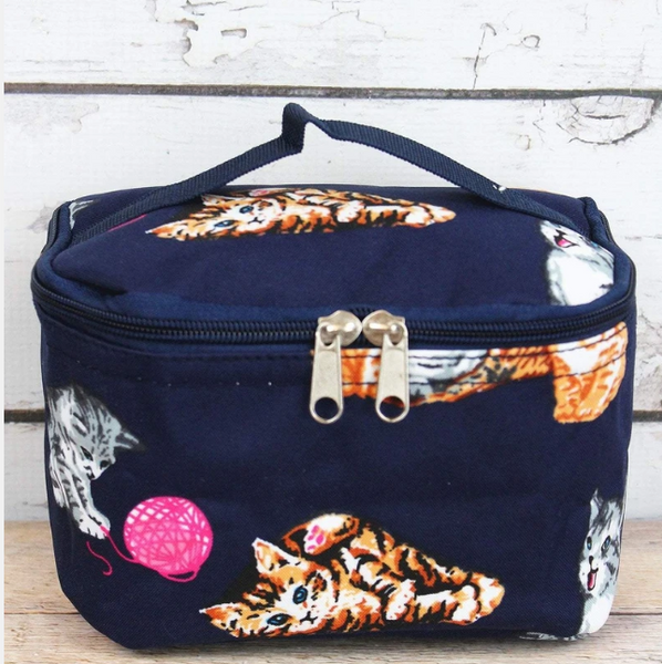 Cat print makeup case.