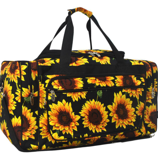 Sunflower duffle bag. 23 inch