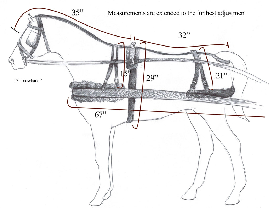 Synthetic pony harness