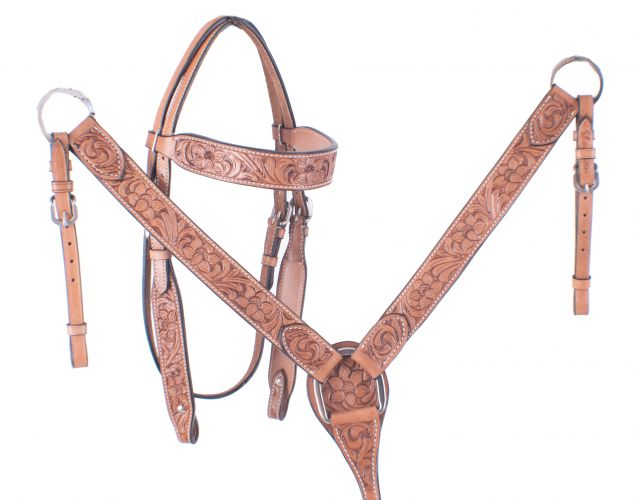 Tooled bridle and breastplate