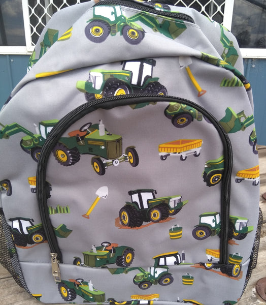 Tractor trucks school bag