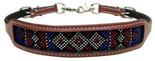 Red, white, blue crystal inlay set
