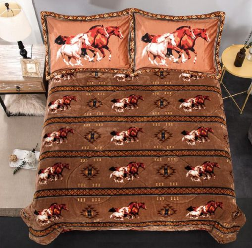 King size comforter set. Running horses