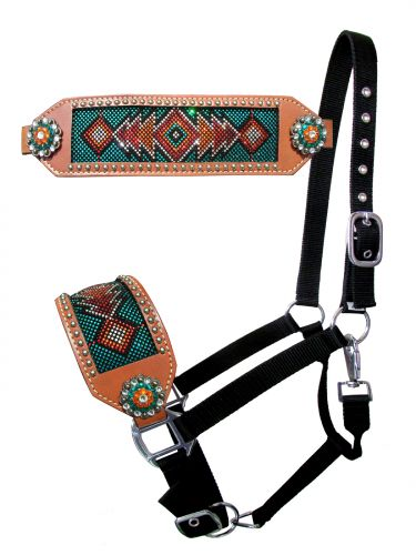 Teal, Red, Orange crystal inlay set