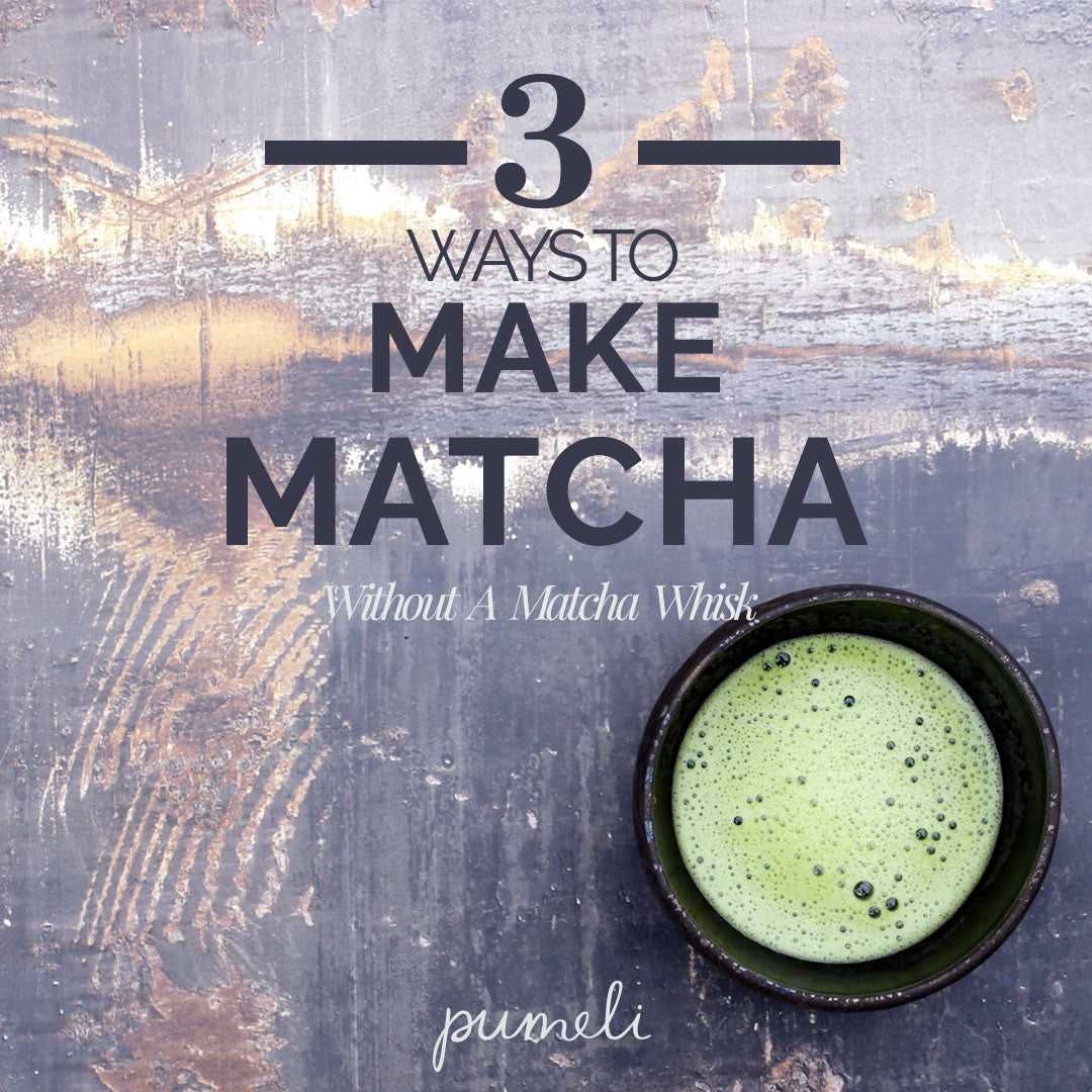 How to Make Frothy Matcha Using Ordinary Kitchen Tools