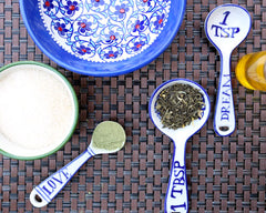 Matcha Sugar Scrub ingredients