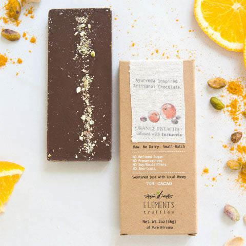 Orange Turmeric Chocolate Bar