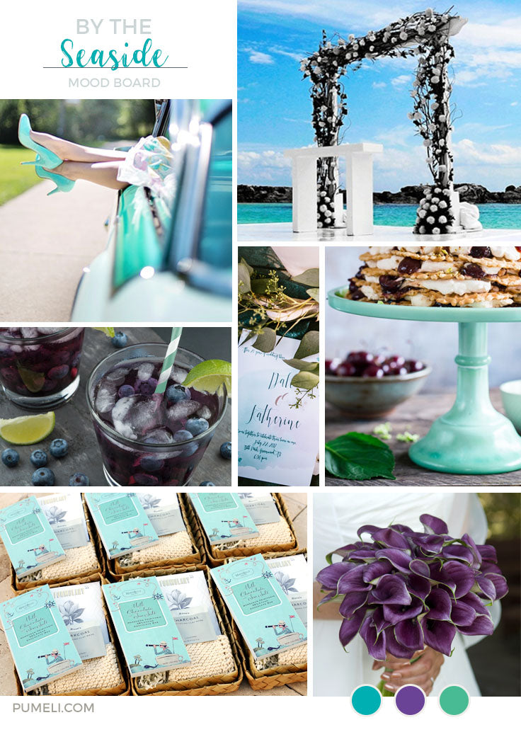 Seaside Wedding Mood Board