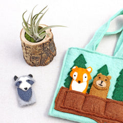 kids finger puppet tote bag
