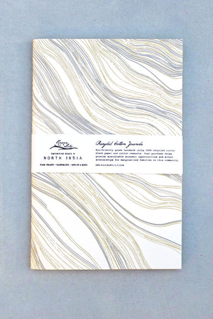 Gold Marble Recycled Cotton Journal
