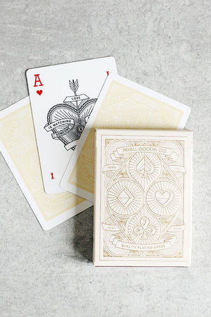Ivory Playing Cards - Misc. Goods Co.