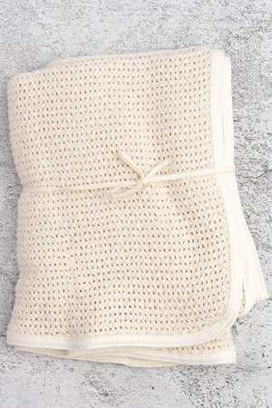 100% cotton knit baby blanket