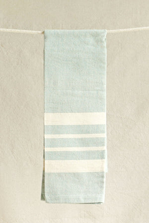 Hand-woven Lily Green Kitchen Towel