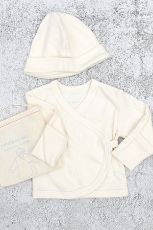 Organic Cotton Baby Cardigan & Cap