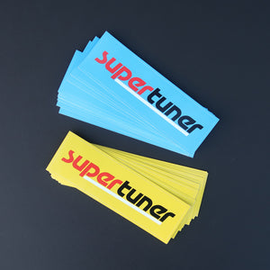 Just a Supertuner logo slap sticker in classic racing color-ways.