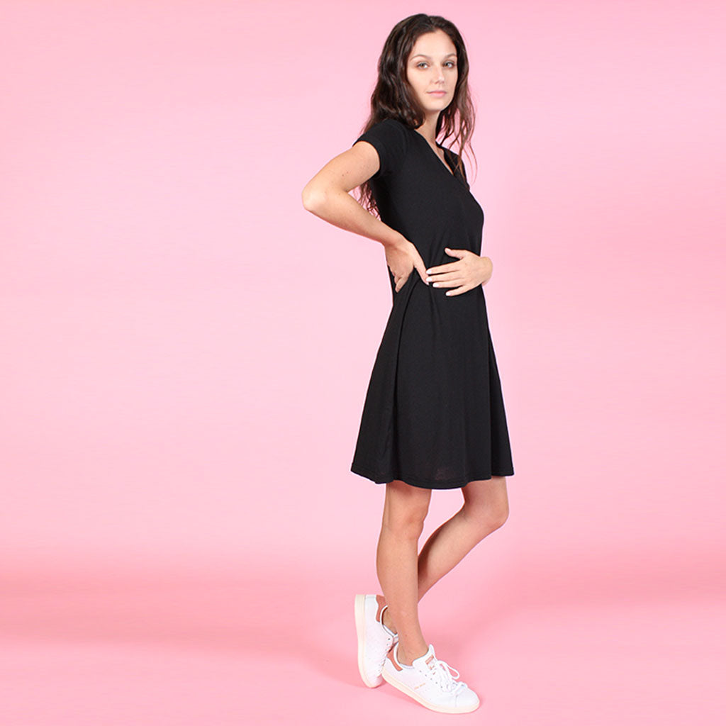 The Rolled Cuff Trapeze Dress: Casual-Chic For Ultimate Versatility