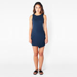 Navy Ridge-Slit Dress