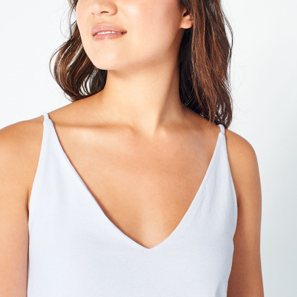 White V-Neck Cami