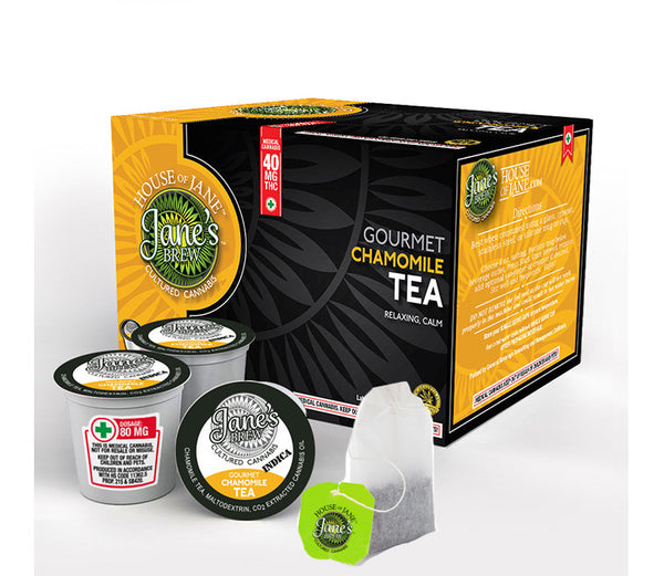 House of Jane - Cannabis Infused Organic Bagged Chamomile Tea - GreenDoorWest.com - 4