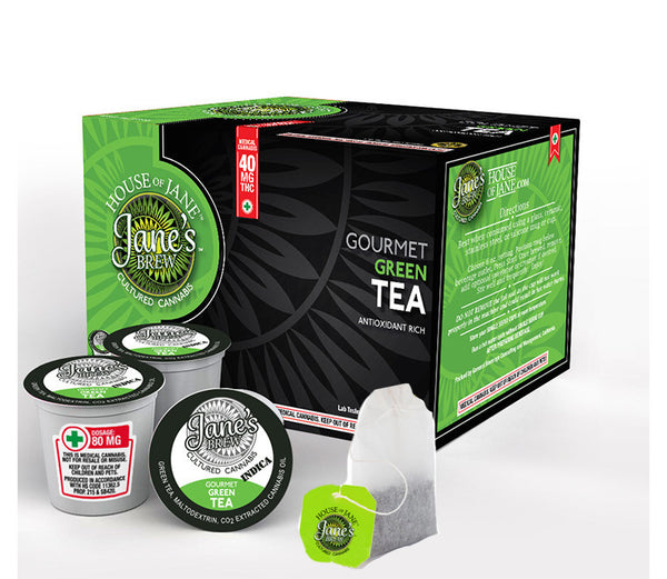 House of Jane - Cannabis Infused Organic Bagged Green Tea - GreenDoorWest.com - 4