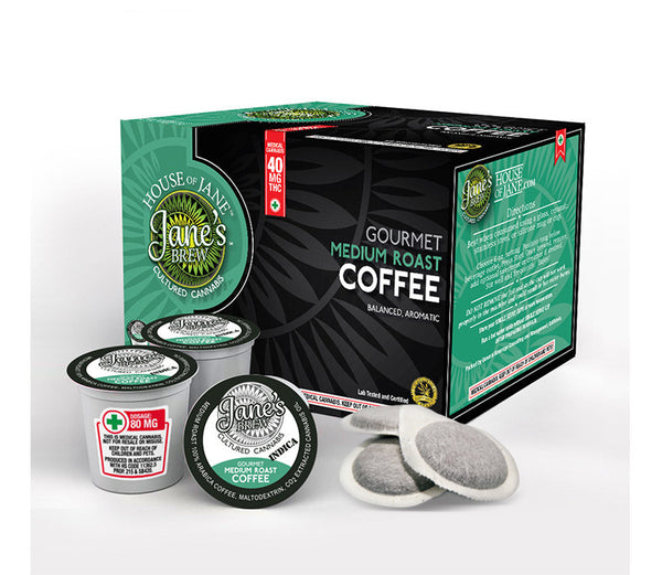 House of Jane - Cannabis-Infused Ground Coffee (Medium Roast) 20MG - GreenDoorWest.com - 2