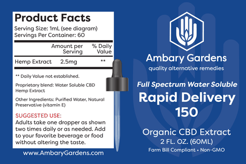 Water Soluble Rapid Delivery CBD Tincture