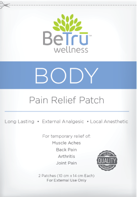 BeTru Wellness - Body Pain Relief Patch - GreenDoorWest.com - 1