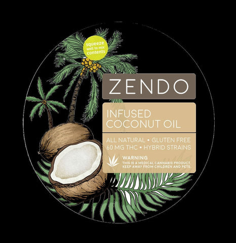 Zendo - Infused Coconut Oil - 60mg THC - GreenDoorWest.com - 1