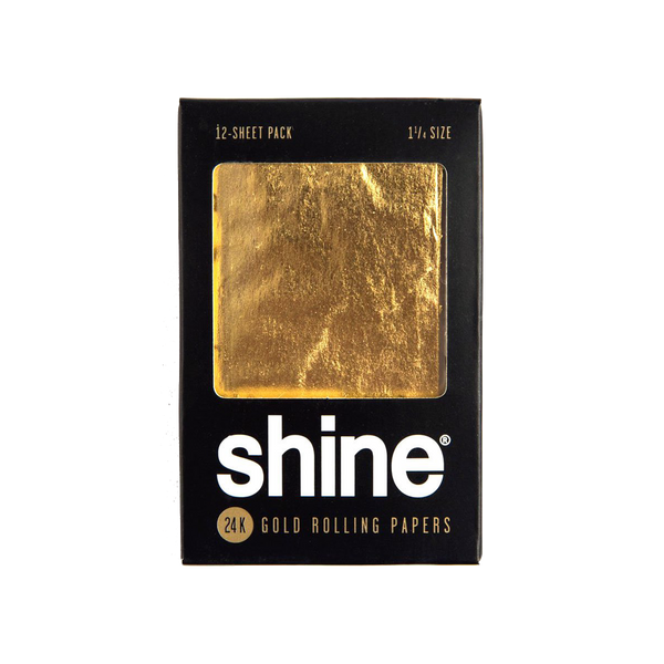 Shine 24K Gold Rolling Papers - 1 1/4 Size 12 Sheet Pack - GreenDoorWest.com - 1
