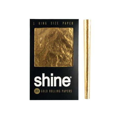 Shine 24K Gold Rolling Papers - King Size Single Sheet - GreenDoorWest.com - 1