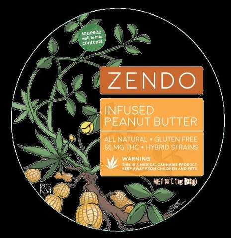 Zendo - Infused Peanut Butter - 50mg THC - GreenDoorWest.com - 1