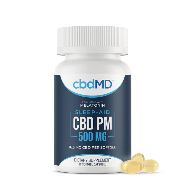 cbdMD PM Softgel Capsules - 500mg