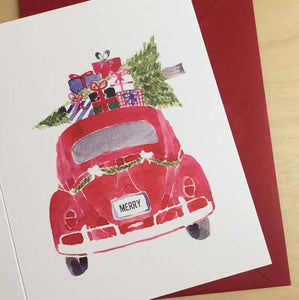 VW Bug Holiday Card