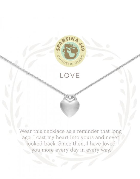 Sea La Vie Love Necklace - Silver