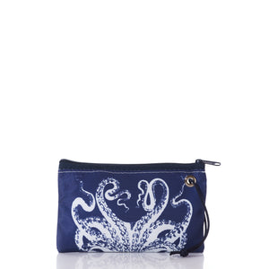 Wristlet, White on Navy Octopus