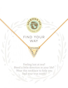 Sea La Vie Find Your Way Necklace - Gold