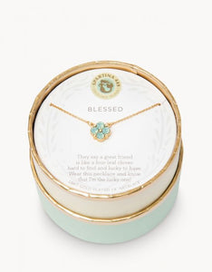 Sea La Vie Blessed Sea Foam Necklace - Gold